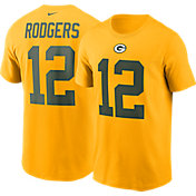Nike Men's Green Bay Packers Aaron Rodgers #12 Gold T-Shirt