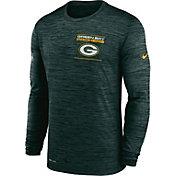 Nike Men's Green Bay Packers Sideline Legend Velocity Green Long Sleeve T-Shirt