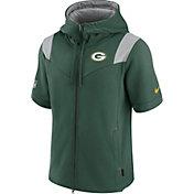 Nike Men's Green Bay Packers Sideline Showout Full-Zip Short-Sleeve Hoodie