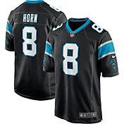 Nike Men's Carolina Panthers Jaycee Horn #8 Black Game Jersey