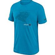 Nike Men's Carolina Panthers Sideline Team Issue Blue Performance T-Shirt