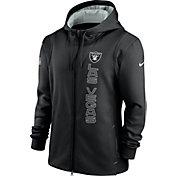 Nike Men's Las Vegas Raiders Sideline Therma-FIT Full-Zip Black Hoodie