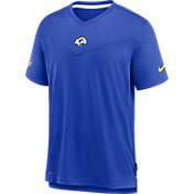 Nike Men's Los Angeles Rams Sideline Coaches Royal T-Shirt