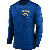 Nike Men's Los Angeles Rams Sideline Legend Velocity Royal Long Sleeve T-Shirt