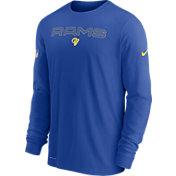 Nike Men's Los Angeles Rams Sideline Team Issue Royal Long Sleeve T-Shirt