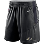 Nike Men's Baltimore Ravens Sideline Dri-FIT Black Performance Shorts