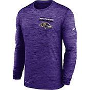 Nike Men's Baltimore Ravens Sideline Legend Velocity Purple Long Sleeve T-Shirt