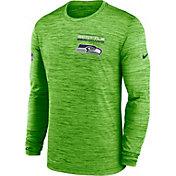 Nike Men's Seattle Seahawks Sideline Legend Velocity Green Long Sleeve T-Shirt