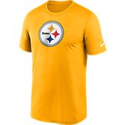 Nike Men's Pittsburgh Steelers Legend Logo Gold T-Shirt