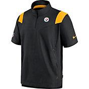 Nike Men's Pittsburgh Steelers Coaches Sideline Short Sleeve Black Jacket