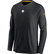 Nike Men's Pittsburgh Steelers Sideline Coaches Black Long Sleeve T-Shirt