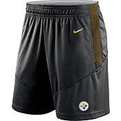 Nike Men's Pittsburgh Steelers Sideline Dri-FIT Black Performance Shorts