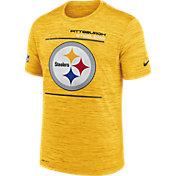 Nike Men's Pittsburgh Steelers Sideline Legend Velocity Gold T-Shirt