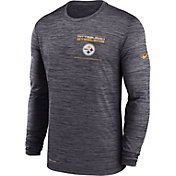 Nike Men's Pittsburgh Steelers Sideline Legend Velocity Black Long Sleeve T-Shirt