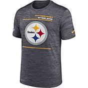 Nike Men's Pittsburgh Steelers Sideline Legend Velocity Black Performance T-Shirt
