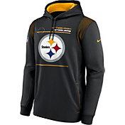 Nike Men's Pittsburgh Steelers Sideline Therma-FIT Black Pullover Hoodie