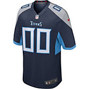 Nike Men's Tennessee Titans Caleb Farley #23 Navy Game Jersey