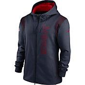Nike Men's Houston Texans Sideline Therma-FIT Full-Zip Navy Hoodie