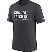 Nike Men's Washington Football Team Crucial Catch Anthracite T-Shirt