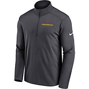 Nike Men's Washington Football Team Logo Pacer Grey Half-Zip Pullover