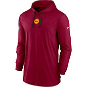 Nike Men's Washington Football Team Sideline Dri-FIT Hooded Long Sleeve Red T-Shirt