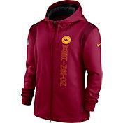Nike Men's Washington Football Team Sideline Therma-FIT Full-Zip Red Hoodie
