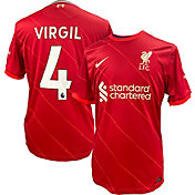 Nike Liverpool FC Virgil van Dijk #4 Breathe Stadium Home Replica Jersey