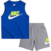 Nike Little Boys' Sportswear Club Muscle Tank Top and Shorts Set