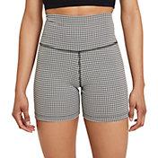 "Nike Women's Gingham 5"" Yoga Shorts"