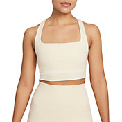 Nike Women's Dri-FIT Cropped Gingham Yoga Tank Top