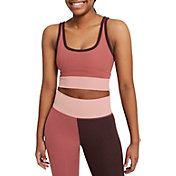 Nike Women's Luxe Cropped Color-Block Training Tank Top