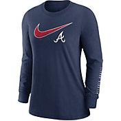 Nike Women's Atlanta Braves Navy Long Sleeve T-Shirt