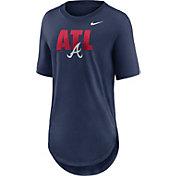 Nike Women's Atlanta Braves Navy Longline Weekend T-Shirt