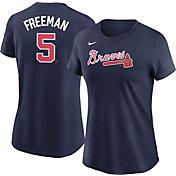 Nike Women's Atlanta Braves Freddie Freeman #5 Navy T-Shirt
