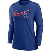 Nike Women's Chicago Cubs Blue Long Sleeve T-Shirt