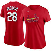 Nike Women's St. Louis Cardinals Nolan Arenado #28 Red T-Shirt