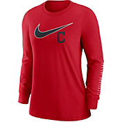 Nike Women's Cleveland Indians Red Long Sleeve T-Shirt