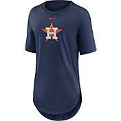 Nike Women's Houston Astros Navy Longline Logo T-Shirt