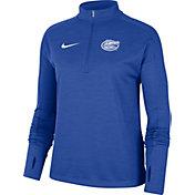 Nike Women's Florida Gators Blue Dri-FIT Pacer Quarter-Zip Shirt