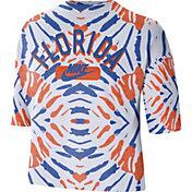 Nike Women's Florida Gators White Tie-Dye Boxy Festival T-Shirt