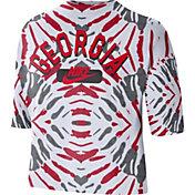 Nike Women's Georgia Bulldogs White Tie-Dye Boxy Festival T-Shirt