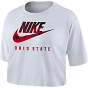Nike Women's Ohio State Buckeyes Spring Break Cropped White T-Shirt