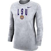 Nike Women's LSU Tigers White Long Sleeve Cotton T-Shirt
