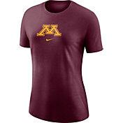 Nike Women's Minnesota Golden Gophers Maroon Logo Crew T-Shirt
