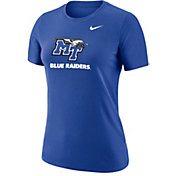 Nike Women's Middle Tennessee State Blue Raiders Blue Dri-FIT Cotton T-Shirt