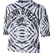 Nike Women's Penn State Nittany Lions White Tie-Dye Boxy Festival T-Shirt