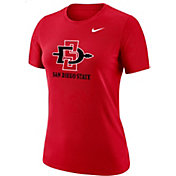 Nike Women's San Diego State Aztecs Scarlet Dri-FIT Cotton T-Shirt
