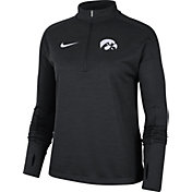 Nike Women's Iowa Hawkeyes Dri-FIT Pacer Quarter-Zip Black Shirt