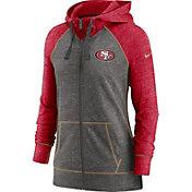 Nike Women's San Francisco 49ers Gym Vintage Club Full-Zip Hoodie
