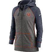 Nike Women's Chicago Bears Gym Vintage Club Full-Zip Hoodie